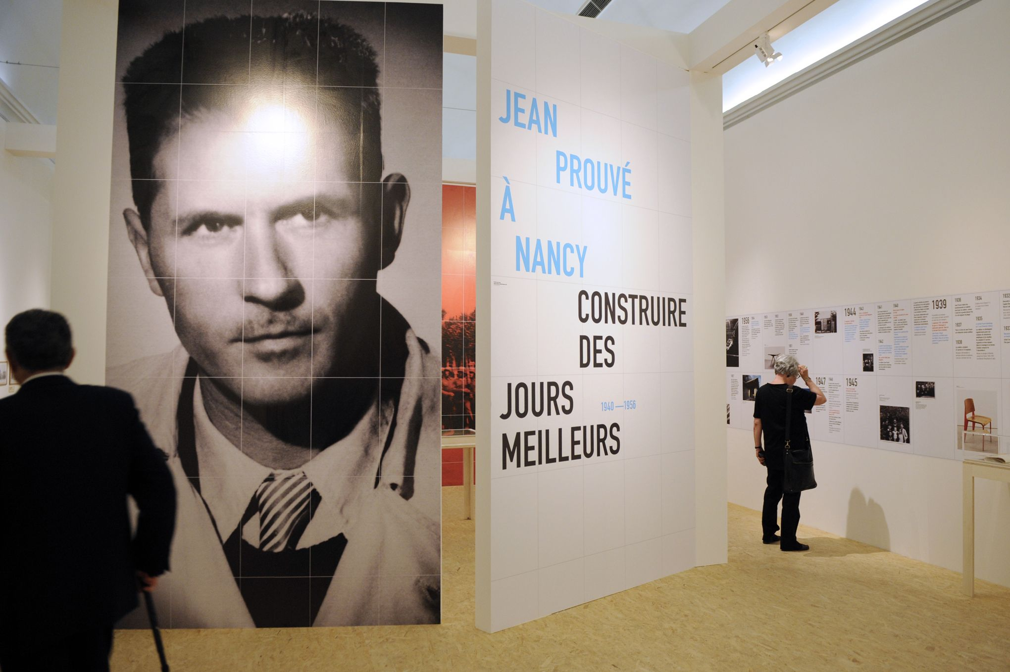 TO GO WITH AFP STORY BY PAUL AUBRIAT People visit a temporary exhibition dedicated to the French architect and designer Jean Prouve at the  Musee Lorrain of the French northeastern city of Nancy, on July 4, 2012. The city of Nancy pay tribute to Jean Prouve in 2012, organizing a series of permanent and temporary exhibitions. AFP PHOTO / JEAN-CHRISTOPHE VERHAEGEN
